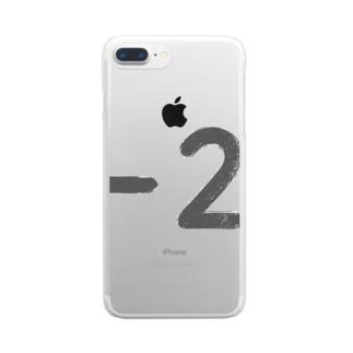 ハイフン2墨 Clear smartphone cases