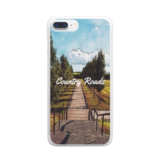 Country Roads(スマホケース版) Clear smartphone cases