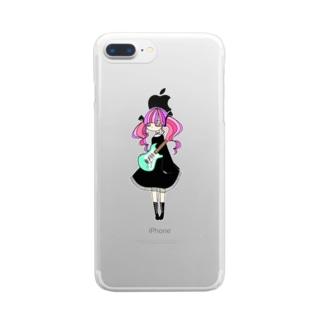めんへらついんてーるちゃん Clear smartphone cases