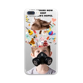 LET'S ENDURE NOW TO KEEP CHILDREN'S HOPES Clear smartphone cases