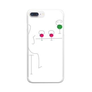 小言よ Clear smartphone cases
