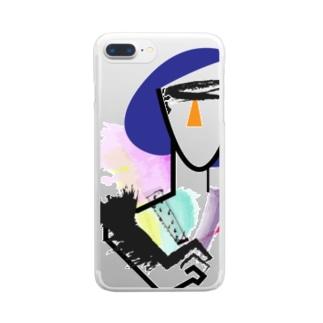 モードな女 Clear smartphone cases