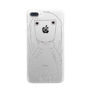 線画のコルメさん Clear smartphone cases