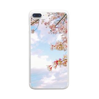 空と桜 Clear Smartphone Case