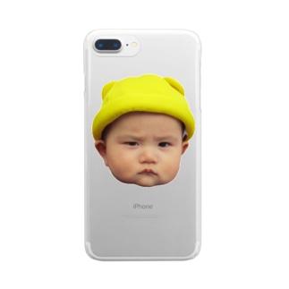 黄色い帽子陸くん Clear smartphone cases