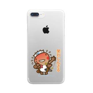 邑南町ゆるキャラ:オオナン・ショウ 石見弁Ver『笑わしんさる』 Clear smartphone cases