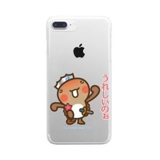 邑南町ゆるキャラ:オオナン・ショウ 石見弁Ver『うれしいのぉ』 Clear smartphone cases