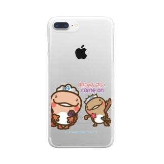 邑南町ゆるキャラ:オオナン・ショウ 石見弁Ver『きちゃんさい』 Clear smartphone cases
