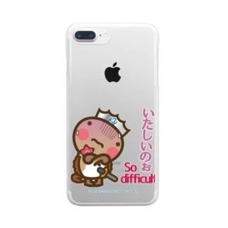 邑南町ゆるキャラ:オオナン・ショウ 石見弁Ver『いたしいのぉ』 Clear smartphone cases