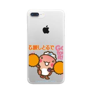 邑南町ゆるキャラ:オオナン・ショウ 石見弁Ver『応援しとるで』 Clear smartphone cases