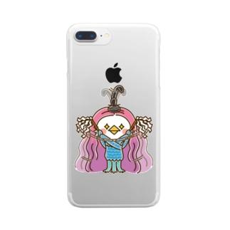 アマビエ様のお祓い Clear smartphone cases