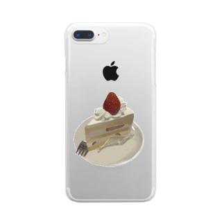 ショートケーキグッツ Clear smartphone cases