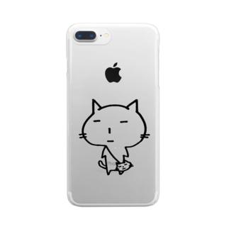 ポーチときち Clear smartphone cases