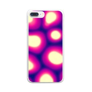 サイケデリック4 Clear smartphone cases