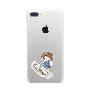 はかどらん Clear smartphone cases