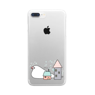 Stay home 文鳥 Clear smartphone cases