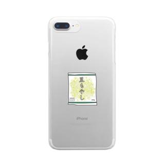 豆もやし 250g Clear smartphone cases