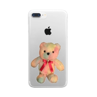 Dreamy Teddy クリア Clear smartphone cases