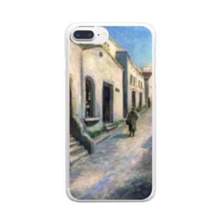 YOSHIKO MIYAHARA 「プロヴァンスの街並み」 Clear smartphone cases