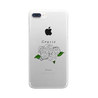 クリアケース用薔薇 Clear smartphone cases