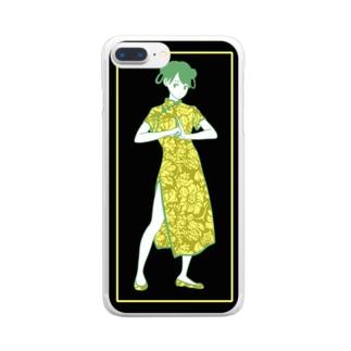 カンフーガール Clear Smartphone Case