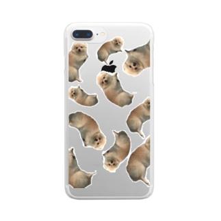 うにちゃんがいっぱい Clear smartphone cases