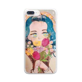 きらきらおめめちゃん Clear smartphone cases