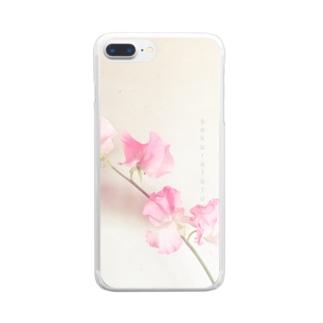 スイートピー  クリア Clear smartphone cases