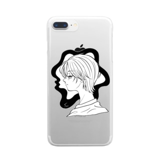 モノクロ Clear smartphone cases