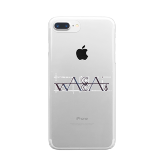 wacca.公式グッズショップのwacca.ロゴ入りスマホケース Clear smartphone cases
