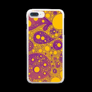 あさりとしじみ。のきいろとむらさきのぶくぶく。 Clear smartphone cases