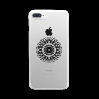 左の幾何学模様 series Clear smartphone cases