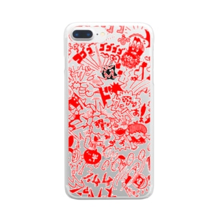 DOKAN_red Clear smartphone cases