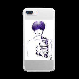 夜店の細胞愚(サイボウグ) Clear smartphone cases