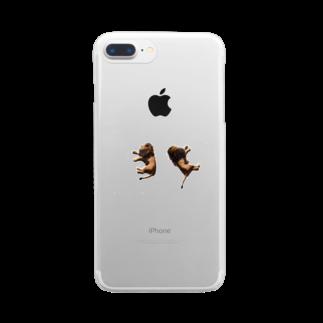 るなの寝てるライオン Clear smartphone cases