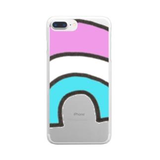 にじみたいな Clear smartphone cases