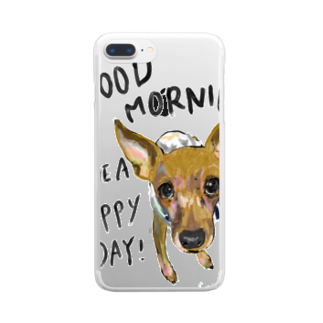 PiKOLLEのGood morning misque! Clear smartphone cases
