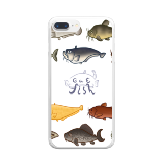 あまごやのJapaneseCatfish Clear smartphone cases