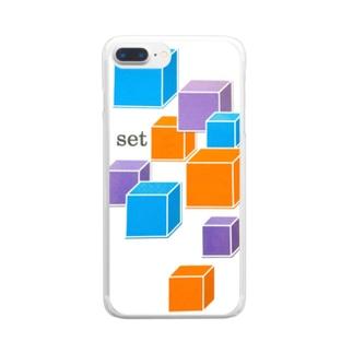 キューブ Clear smartphone cases