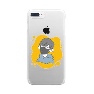 マスクくん Clear smartphone cases