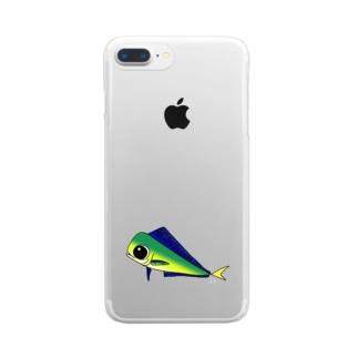 ゆるかわいい「しいら」 Clear Smartphone Case