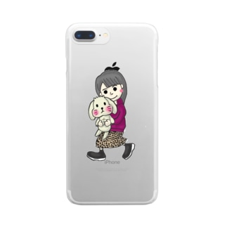 tamagame777のtamage×まろん Clear smartphone cases