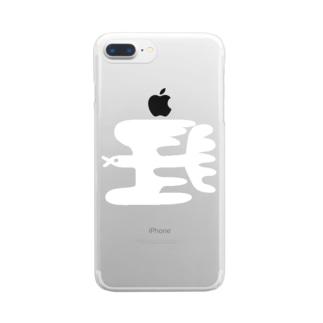 イエネコのトリ Clear smartphone cases