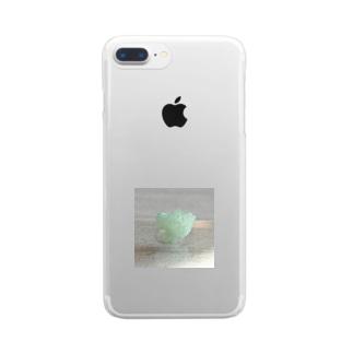 鉱物/グリーンアポフィライト Clear smartphone cases