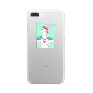 半乳(はんちち) Clear smartphone cases