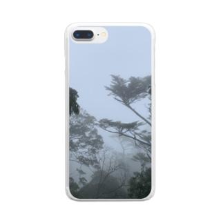 霧の弥山 Clear smartphone cases
