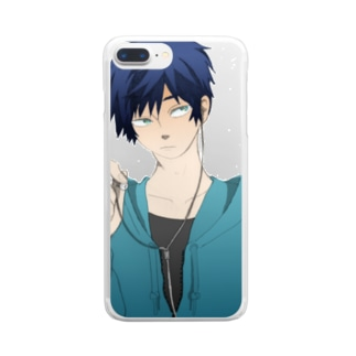 PSYCHの男の子 Clear smartphone cases