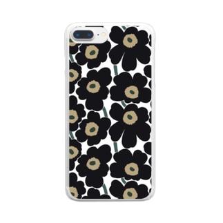 マリメッコ風 Clear smartphone cases