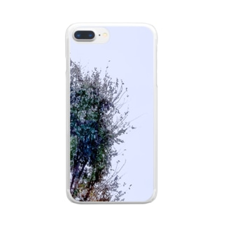 Exit153の木バーン Clear smartphone cases