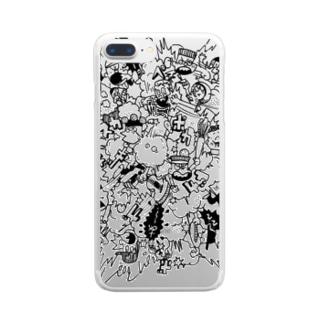 POKASUKA_black Clear smartphone cases
